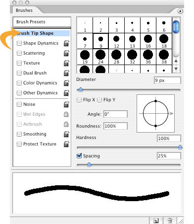 Make a Dotted or Dashed Line in Photoshop follow a Path